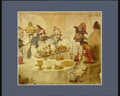 Dumourier dining in state at St James's, on the 15th of May 1793 [estampe]