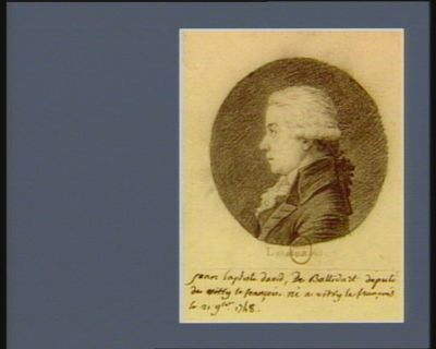 Jean Baptiste David de Ballidart député de Vitry-le-François : né à Vitry le François le 21 9.bre 1748 : [dessin]