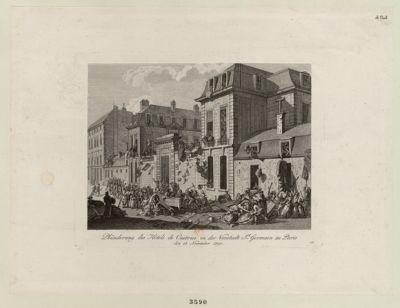 Plünderung des Hotels de Castries in der Norstadt St Germain zu Paris den 13 novembre 1790 : [estampe]