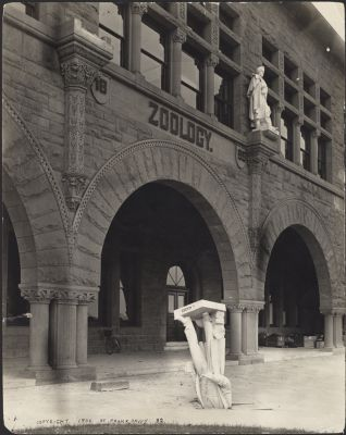 Earthquake (1906) -- Agassiz statue