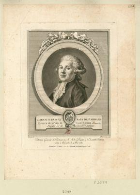 J. Arnaud Pascal Raby de St Medard, cytoyen de la ville de Castel Sarasin en Languedoc député de la sénéch.ée de Toulouse : [estampe]