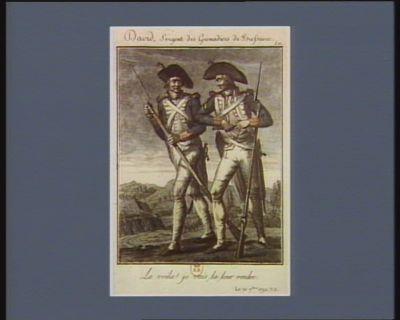 David, sergent des grenadiers de Bressuivre la voila ! je vais la leur rendre. Le 10 7.bre 1792, v.s. : [estampe]