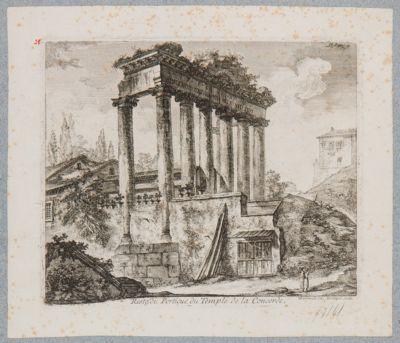 Tempio di Saturno, pronao