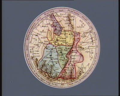 Departement des Hautes Pyrenées divisé en cinq districts : [estampe]