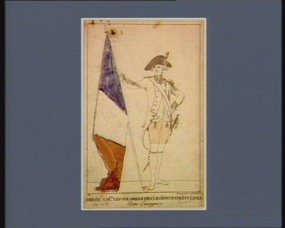Porte enseigne dedié à Mrs les colonels des légions patriotiques : [estampe]