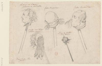 Le  Marquis de Launay gouverneur de la Bastille, Foulon [dessin]