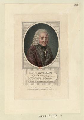 M. F. A. de Voltaire né en 1694 et mort en 1778... : [estampe]