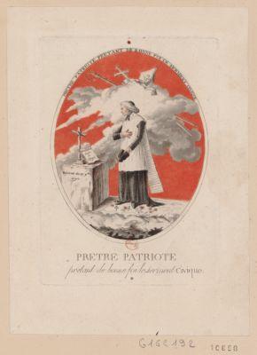 Pretre patriote pretant de bonne foi le serment civique [estampe]