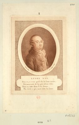 Luigi XVI niun re, s'e ver quel che la fama scrisse... : [estampe]