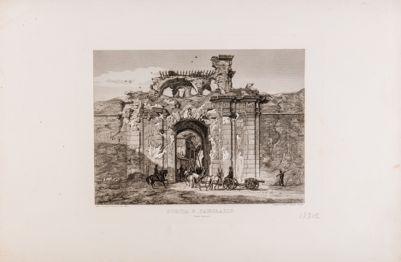 Porta S. Pancrazio dopo la difesa del 1849