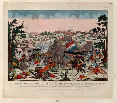 Combat de Mondovi et prise de la ville le 3 [i.e. 2] floréal an IV les résultats de ce combat,... : [estampe]