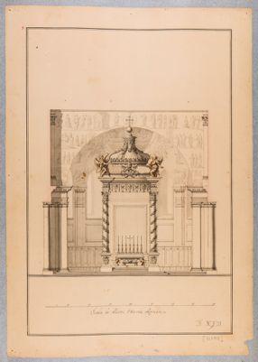 Chiesa di Santa Maria Maggiore. Prospetto di progetto per la nuova sistemazione dell'altare maggiore