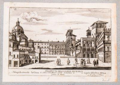 Chiesa di S. Marco. Chiesa e Palazzo Venezia