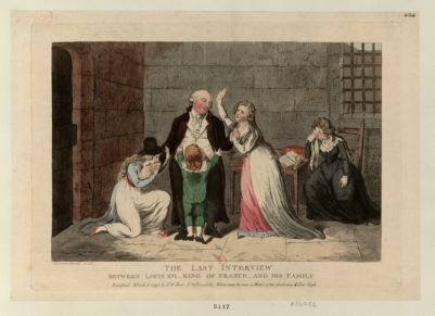 <em>The</em>  Last interview between Louis XVI <em>King</em> of France <em>and</em> his family [estampe]