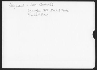 Borgward - Isabella