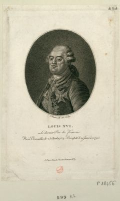 Louis XVI le dernier roi des Français né a Versailles le 23 aout 1754 décapité le 2 janvier 1793 : [estampe]