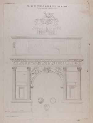 Arco di Tito, prospetto architettonico restaurato