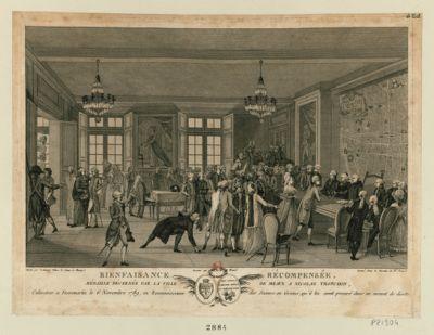 Bienfaisance récompensée médaille décernée par la ville de Meaux a Nicolas Tronchon, cultivateur a Fossemartin le 6 novembre 1789, en reconnoissance des secours en grains, qu'il lui avoit procuré dans un moment de disette : [estampe]
