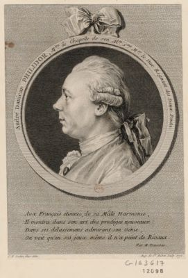 André Danican Philidor m.tre de chapelle de son Al.se S.me Mgr le Duc regnant des Deux Ponts : [estampe]