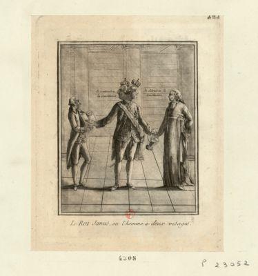 Le  Roi Janus, ou l'homme à deux visages [estampe]