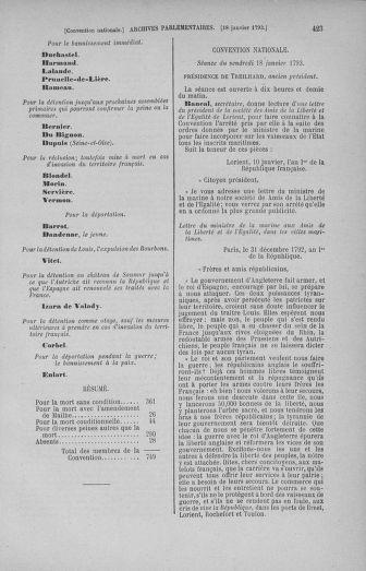 Tome 57 : Du 12 au 28 janvier 1793 - page 423