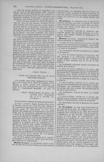 Tome 57 : Du 12 au 28 janvier 1793 - page 424