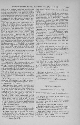 Tome 57 : Du 12 au 28 janvier 1793 - page 705