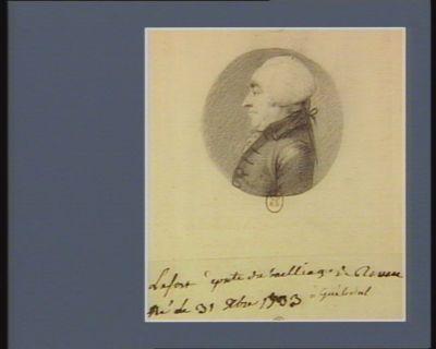 Lefort député du bailliage de Rouen né le 31 X.bre 1733 : [dessin]
