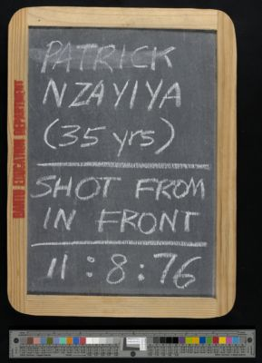 Patrick Nzayiya (35 years), shot from in front, 11:8:76