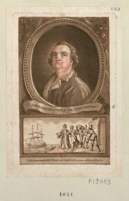 Alexandre comte de Cagliostro Embarquement du comte de Cagliostro pour aller à Malte : [estampe]