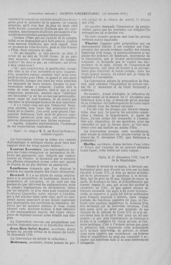 Tome 55 : Du 11 au 27 décembre 1792 - page 37