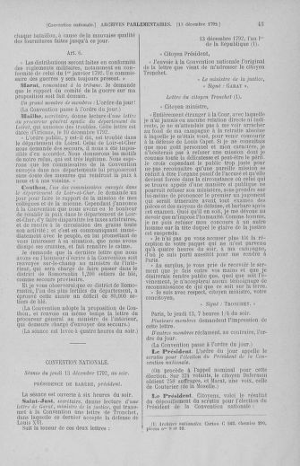 Tome 55 : Du 11 au 27 décembre 1792 - page 43