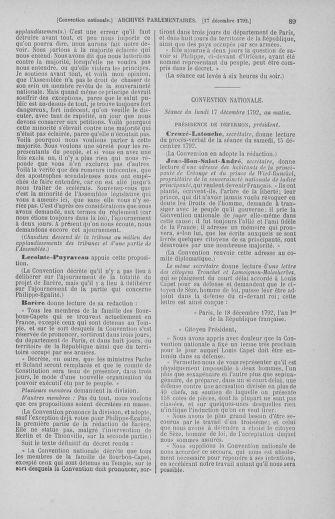 Tome 55 : Du 11 au 27 décembre 1792 - page 89