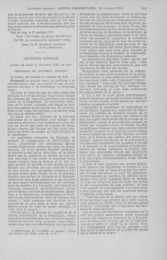 Tome 55 : Du 11 au 27 décembre 1792 - page 119