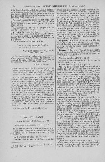 Tome 55 : Du 11 au 27 décembre 1792 - page 148