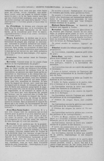 Tome 55 : Du 11 au 27 décembre 1792 - page 149