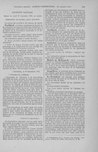 Tome 55 : Du 11 au 27 décembre 1792 - page 703