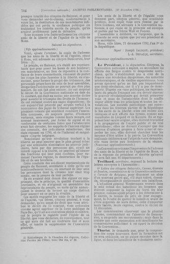 Tome 55 : Du 11 au 27 décembre 1792 - page 704
