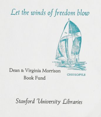 Dean and Virginia Morrison Book Fund