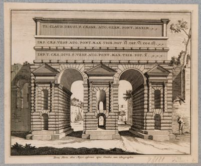 Porta Prenestina. Veduta della porta, ricostruzione