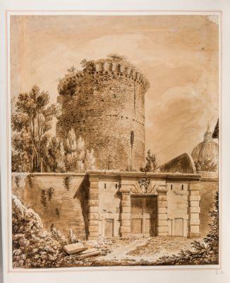 Porta Pertusa in Roma, esterno