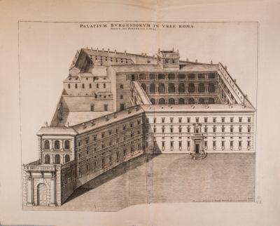 Palazzo Borghese, veduta generale a volo d'uccello