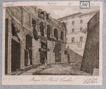 Foro Traiano, estremità meridionale dell'emiciclo dei mercati di Traiano