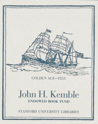 John H. Kemble Endowed Book Fund