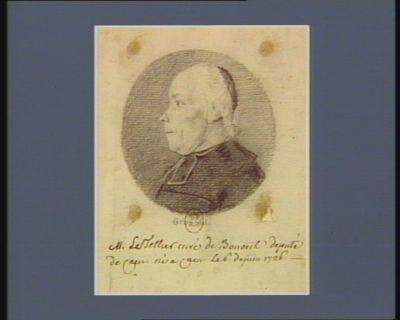 M. Le Tellier curé de Bonoeil député de Caen, né a Caen le 6 de juin 1726 : [dessin]