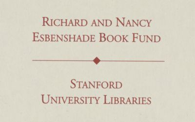 Richard and Nancy Esbenshade Book Fund