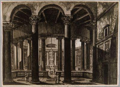 Veduta dell'interno del Tempio di Claudio in oggi Santo Stefano Rotondo sul Monte Celio