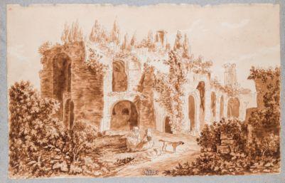 Palatino, resti della Domus Severiana verso levante