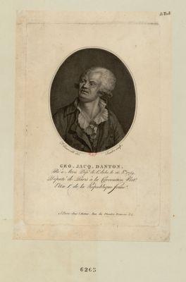 Geo. Jacq. Danton né à Arcis dép.t de l'Aube le 26 8.bre 1759. Député de Paris à la Convention nat.le... : [estampe]