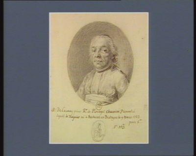 M. Delaunay prieur r.r de Plouagat chenoine premontré député de Treguier né <em>à</em> Bécherel en Bretagne le 9 mars 1723 : [dessin]